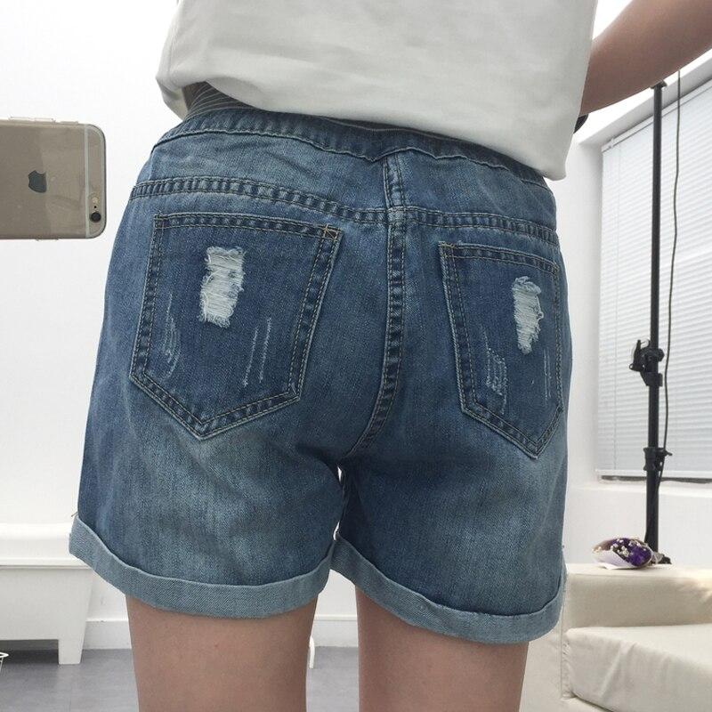 Hole loose plus size denim shorts knee-length pants female roll-up hem female jeans caprisОдежда и ак�е��уары<br><br><br>Aliexpress