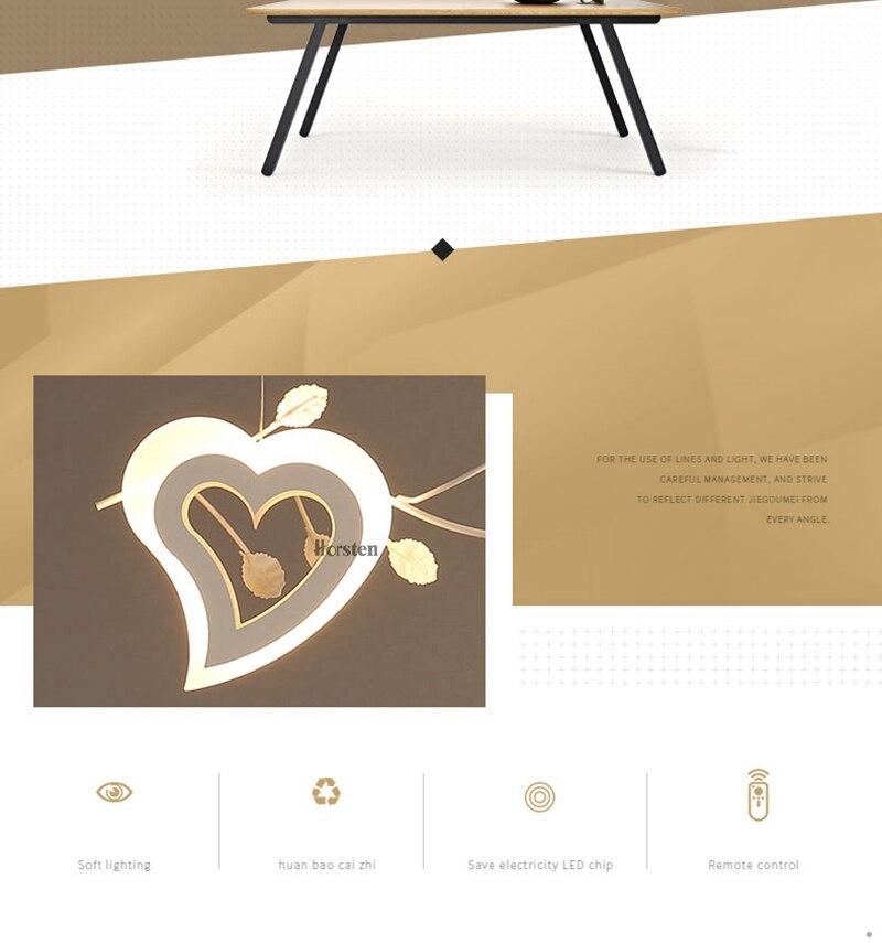 Romantic Love Heart LED Pendant Lights (2)