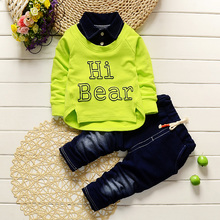 Boys Clothing Set Kids Sports Suit Children Tracksuit Boys Long shirt + pants Sweatshirt Casual Clothes Spring Style(China)