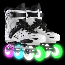Unisex sneakers women & men Skate Shoes single ow skates adult fancy lighted roller skates space aluminum alloy whole sale 2017