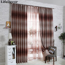 High-end European-style double jacquard printed curtain shade cloth finished custom living room bedroom window curtains Provence