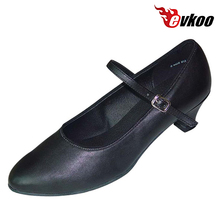 Evkoo Dance Black Khaki 5cm Low Heel Genuine Leather High Quality Low Cost Ballroom Dancing Shoes China Evkoo-167