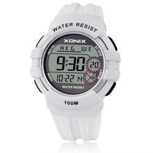 XONIX World Time Boys&Girls Sports Watches Waterproof 100m Women Digital Watch Running Swimming Diving Wristwatch Montre Homme(China)