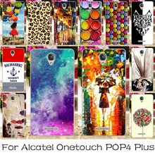 Soft TPU Silicone Mobile Phone Case For Alcatel OneTouch POP 4 Plus 5.5 inch Pop 4+ 5056M Back Cover Angel Girls Shell Housing