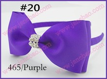 "free shipping 300pcs  Boutique Good  Woven Headband 5"" Bowknot Hair Bow Clip"