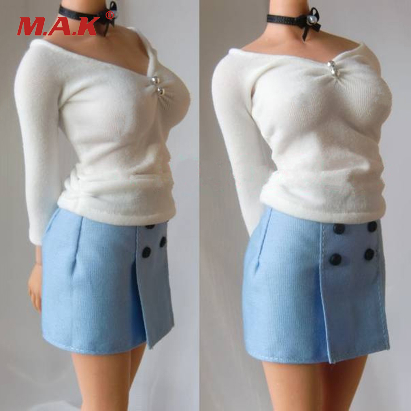1/6 Scale Business Clothes Suits Shirt Skirt Tie Set for Female Action Figure Accessories<br>