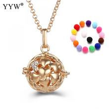 YYW Heart Pattern Perfume Aromatherapy Pendant Essential Oil Diffuser Pregnant Ball Locket Cage Colorful Pendant Women's Gift