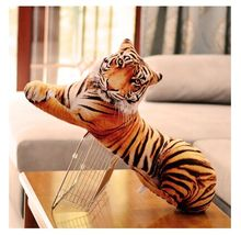 creative new 3D plush tiger toy simulation big tiger pillow gift about 90cm(China)