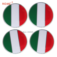 56.5mm Flag Italy Car Wheel Hub Cap Stickers Tire Center Emblem Badge Porsche Mercedes Benz Toyota Lexus Volvo Subaru