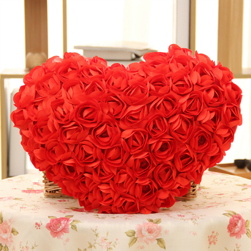 50CM Red/pink 99 Roses Flower Plush Toys Lovers Heart pillow Cushion Wedding Gift Valentines Gift Girl birthday gift<br><br>Aliexpress