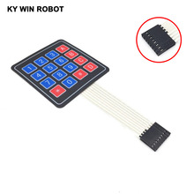 Buy 4X4 Matrix Keyboard Arduino Array Module 16 Key Membrane Switch Expansion Keypad Panel 4*4 Control Microprocessor AVR for $1.02 in AliExpress store