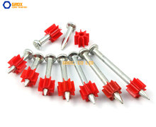 100 Pieces 3.5 x 32mm Steel Concrete Drive Pin Nail(China)
