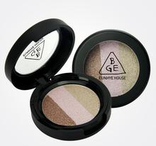 Hot (12 Pieces / Lot) 3 - color Eye Shadow Silty Fine Moist Shine Highly Fit Three-dimensional Brand Five Optional Free Shipping