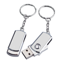 1pc/lot Metal USB Flash Drive USB 2.0 Key Chain Pen Drive 64GB 32GB 8GB 16GB stainless steel usb stick in Stock Memory Stick
