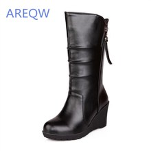 2016 New women's boots Autumn short boots mid-calf lady knight shoes Fashion Elegant boots