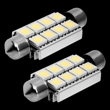 4pcs 42mm C5W C10W canbus no error Festoon 8 led 5050 smd Car Licence Plate Light Auto housing Interior Dome lamp Reading Lights