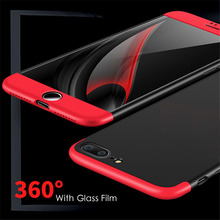 3 in 1 Knight Armor Phone Cases For iphone 7 6 6s Plus SE 5 5S Case Ultra thin Fashion Phone Cover Matte Cases Screen Glass Film(China)