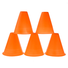 5Pcs Bright Orange Slalom Cones for Slalom Skating Cone Skating