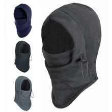 New Arrival Thermal Fleece Balaclava Hood Police Swat Ski Bike Wind Winter Stopper Face Mask snowboard solomon shoes men(China)
