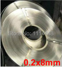 0.2 x 8mm 1kg Nickel Plated Steel Strap Strip Sheets for battery spot welding machine Welder Equipment 1kg