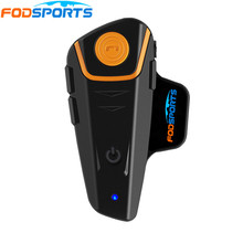 Fodsports BT-S2 Motorcycle Helmet Bluetooth Intercom 2 Riders Talking Interphone Headphone Handfree with FM Radio waterproof