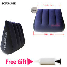 Toughage Sex Furniture Inflatable Sexual Position Sofa Sex Triangle Cushion Pillow Magic Triangle Pillow With Free Gift The Pump