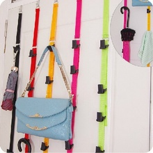 1pcs Over Door Hanging Lanyard Hanger Handbag coat cloth Storage Organizer Hook home supplies