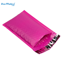 10pcs/187*228mm/6.5 x9inch Usable space pink Poly bubble Mailer envelopes padded Mailing Bag Self Sealing(China)