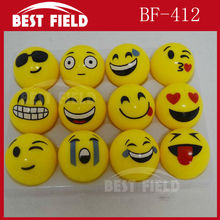 Free shipping 5.5cm rubber led bouncy ball Popular Emoji Light Up LED Flash Rubber Bouncy Balls for Party Fun