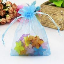 100ps Jewelry Gift Organza Bags Wedding Favors Candy Pouches Home Party Decoration Crafts Pack Festive Supplies(China)