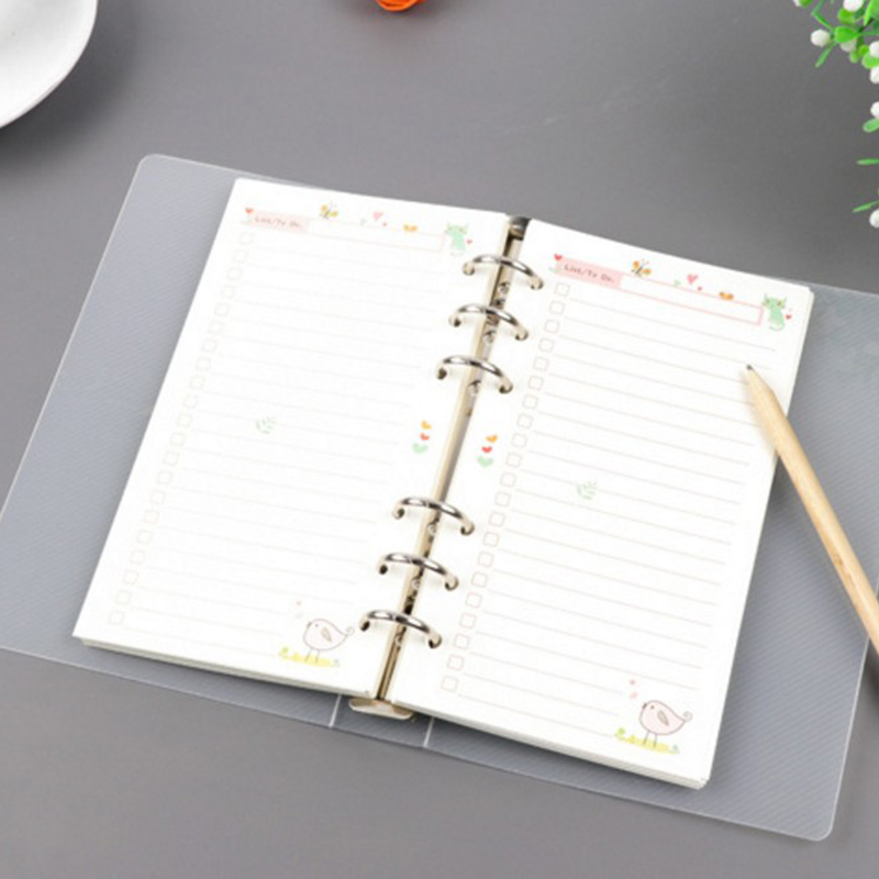 Office & School Supplies 6 Löcher Matt Spirale Notebook Planer Bindemittel Teiler Inneren Lineal Kreative Sationery Büro Liefert A5 A6
