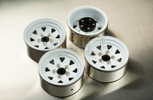 The new 1.9 upgrade heavier metal hub SCX10 D90 CC01 RC4WD HILUX white 4pcs