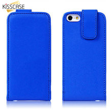KISSCASE Vertical Flip Leather Case For iphone 5 5S se Full Protective Hybrid Royal Blue Cover Cell Phone Bags Business Style
