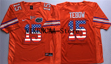 Nike 2016 Stanford Florida Gators Orange TEBOW #15 Printing on the flag  T-shirt Limited Jersey - White Size S,M,L,XL,2XL,3XL