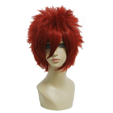 MCOSER Short Red Wig 32cm Straight Synthetic Cosplay Wig Free Shipping 100% High Temperature Fiber Hair WIG-198A(China)