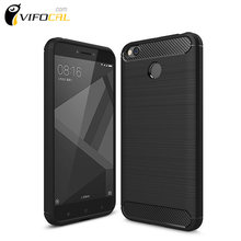 Xiaomi Redmi 4X Case Carbon Style Soft Protective TPU Silicon Back Cover for Xiaomi Redmi 4X Pro 5.0inch Mobile Phone