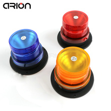 DC12V Hot sale Magnetic Mounted Warning flash beacon safety Strobe Emergency light Police lights Red Blue Amber Yellow Colors(China)