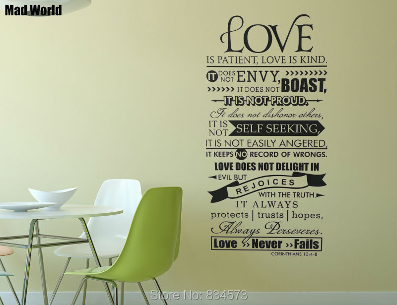 Bible Verse Love Is Patient Kind Quote 56 110h 1