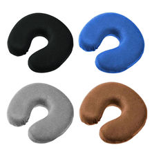 1PC Memory U Shaped Travel Air Pillow Neck Support Head Rest Cushion Gift Comfortable Pillows