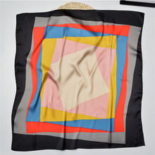 70*70CM Silk Scarf Women New Fashion Scarves Small Squares Head Scarf Luxury Designer Brand Ladies Scarves Female Hijab(China)