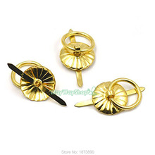 20 PCS Metal Cabinet Head Pulls Knobs O Round ring 18mm Drawer Button handles Gold(China)