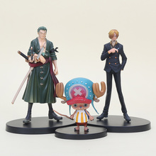 3pcs/lot 7-15cm DX One Piece Two Years Later Tony Tony Chopper Sanji Zoro Japanese Anime PVC Figure Toys