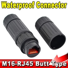 Waterproof M16 IP68 Ethernet Network LAN Cable RJ45 Female to Female Connector Adapter Plug Socket Waterproof Connector