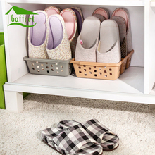 Plastic Shoes Storage Organizer Cleaning Save Space Hollow 3 Grids Shoe Storage Stand Shelf Living Room Convenient(China)