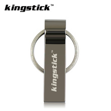 Kingstick U disk metal usb flash drive 4gb 8gb pendrive 16gb USB stick 32 gb memory stick 64gb usb flash drive with key Ring(China)