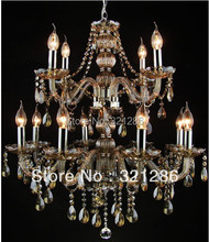 12 arms Crystal chandelier light Large crystal chandelier living room lights candle chandelier light lamp lobby lamp lighting