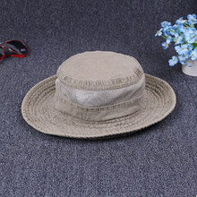 2017 Summer Western Style Cotton Retro Bucket Hats Adult Men Adjustable Size Mesh Breathable Big Eaves Tourism Novelty Sun Hat
