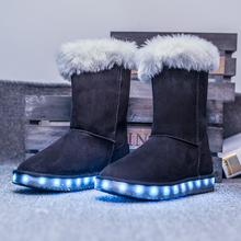 2017 Hot New Baby Boys Girls LED Light Shoes Toddler Anti-Slip Sports Snow Boots Kids Sneakers Children's Flats shoes 5 colors