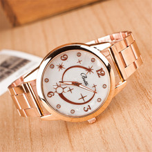 Luxury Brand Watches Women Casual Ccrystal Quartz Gold Watch Fashion Meteor Design Steel WristWatches 2016 New Sale reloj mujer(China)