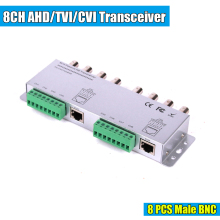 8ch Passive Video Balun The Bnc To Utp Rj45 Cat5 Camera Dvr Transceiver(China)